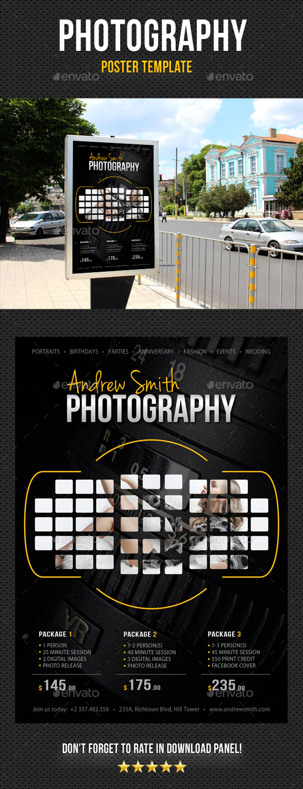 Photography Poster Template V11 - Signage Print Templates