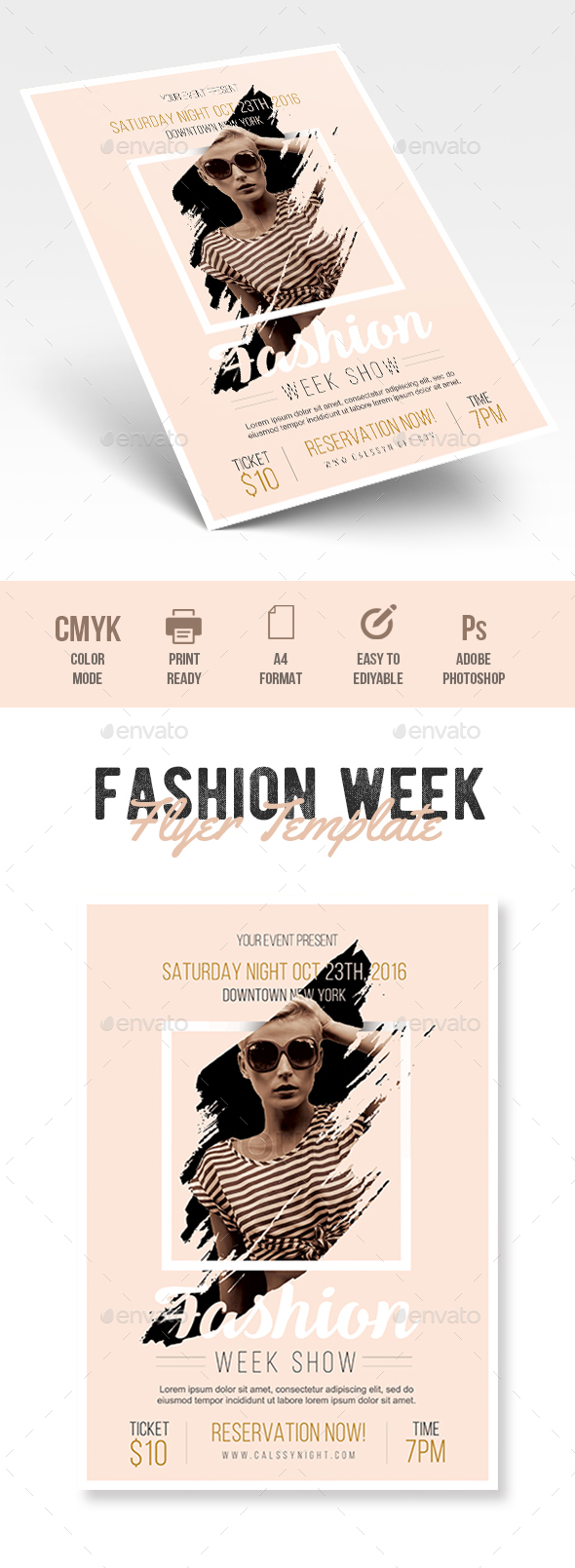 Fashion Flyer - Flyers Print Templates