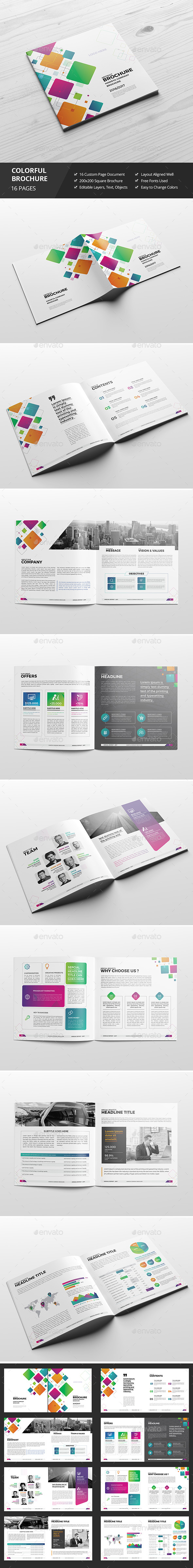 Haweya Colorful Square Brochure 03 - Corporate Brochures