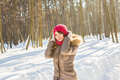 Attractive young woman in wintertime outdoor - PhotoDune Item for Sale
