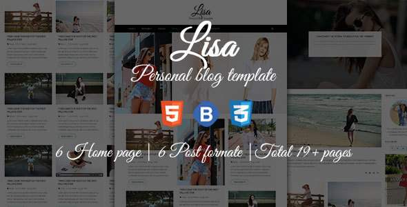 Lisa – Personal Blog Template