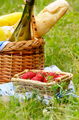 Picnic basket and strawberry - PhotoDune Item for Sale