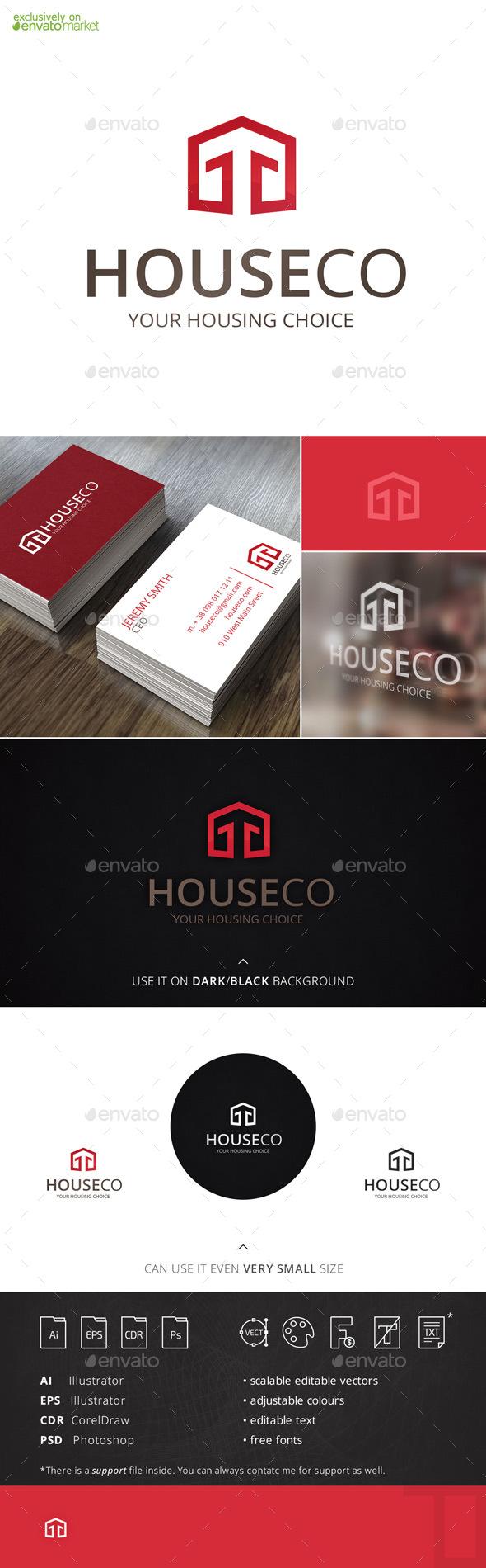 Houseco Housing Logo Template - Buildings Logo Templates