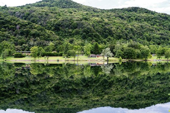 Lake of Ghirla (Varese, Italy) - Stock Photo - Images