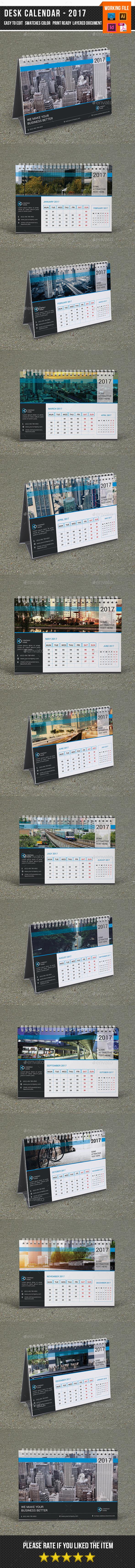 Desk Calendar for 2017 | Updated-V15 - Calendars Stationery