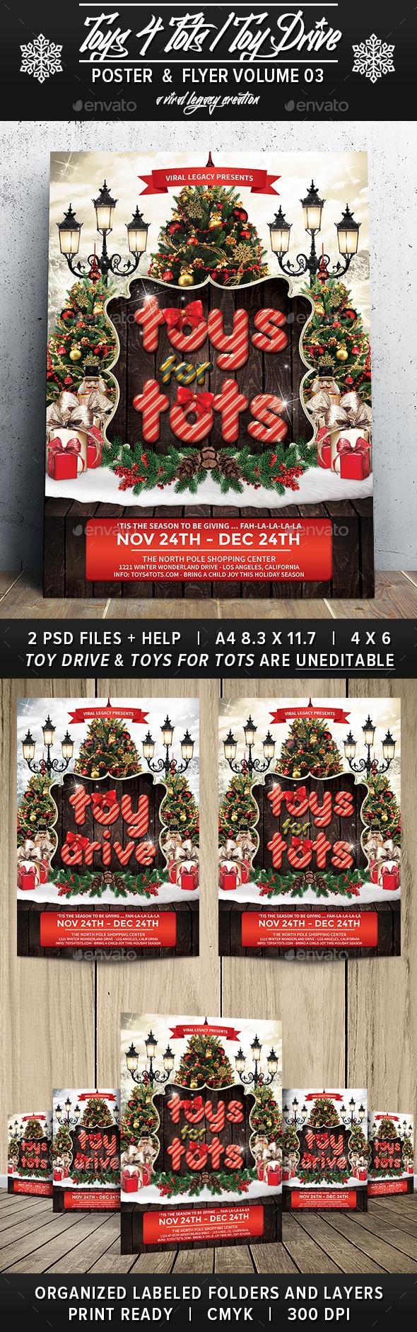 Toys 4 Toys / Toy Drive V03 - Flyers Print Templates