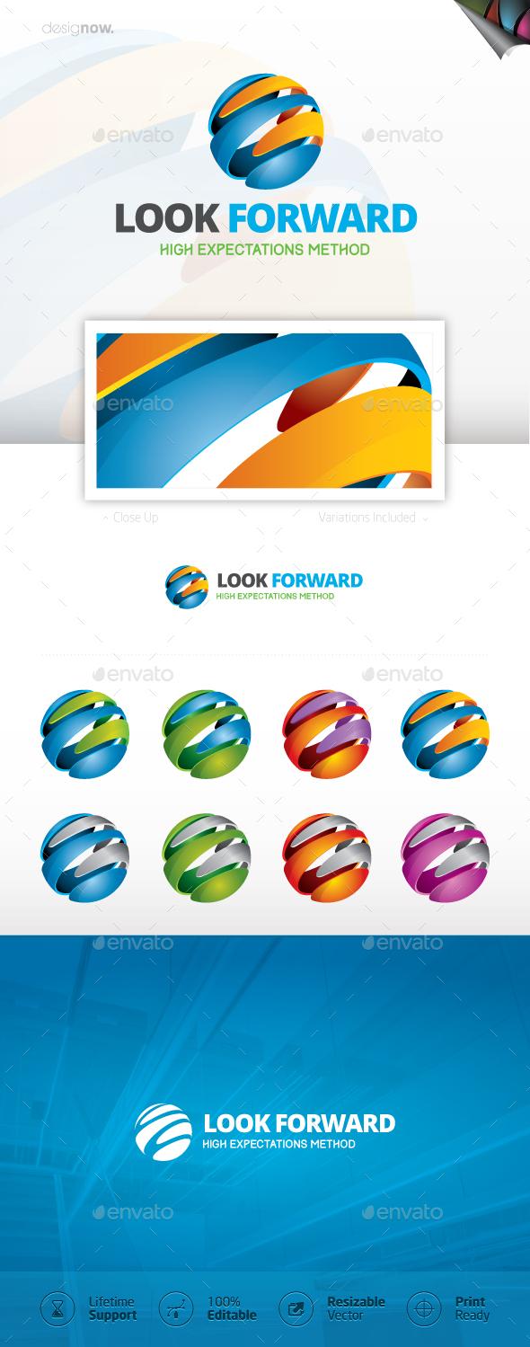 Look Forward Logo - 3d Abstract