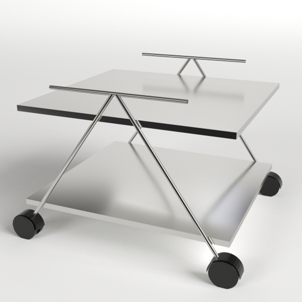 Food Trolley, Beverage Cart 2 - 3DOcean Item for Sale