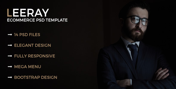 Leeray Ecommerce PSD Template