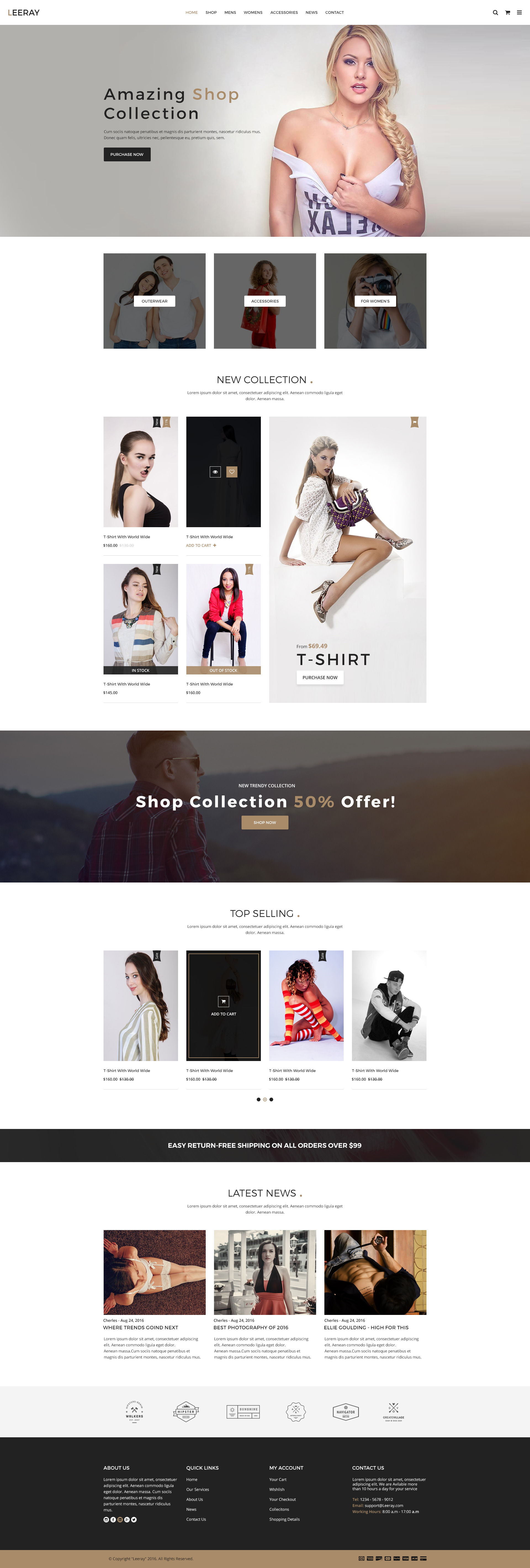 Leeray Ecommerce Psd Template By Mine Tech Themeforest
