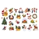 Classic Christmas Stickers on White - GraphicRiver Item for Sale