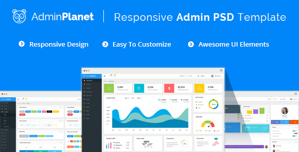 Admin Planet - Dashboard Psd Template