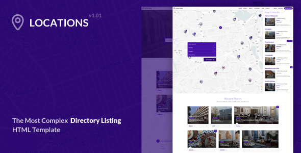 Locations – Directory Listing HTML Template
