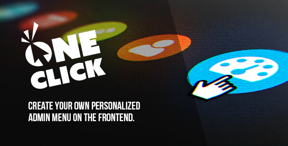 oneClick admin menu - CodeCanyon Item for Sale