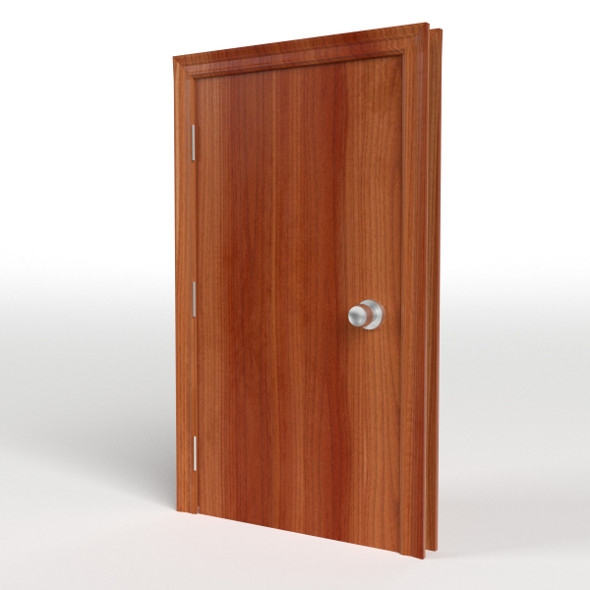 Flush Door with Frame - 3DOcean Item for Sale
