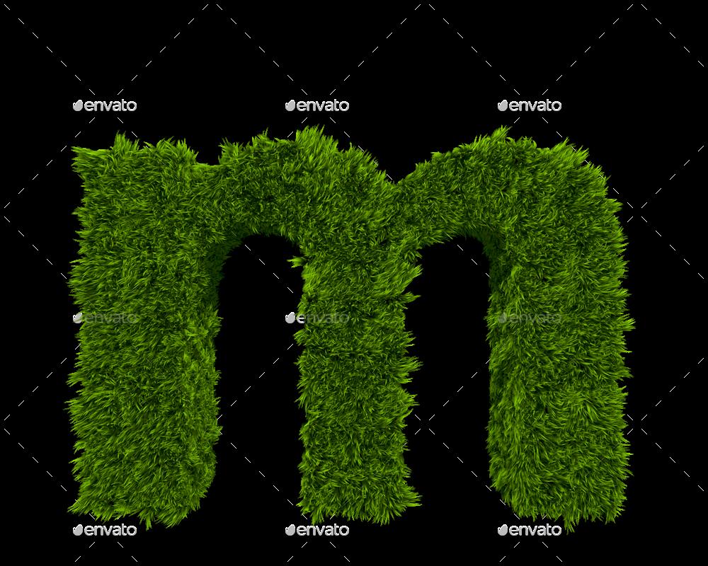 f87bf9ebd 3d Grass Letters by CreativeDurrani   GraphicRiver