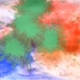 Colored Paint Splashes On White Wet Paper - VideoHive Item for Sale