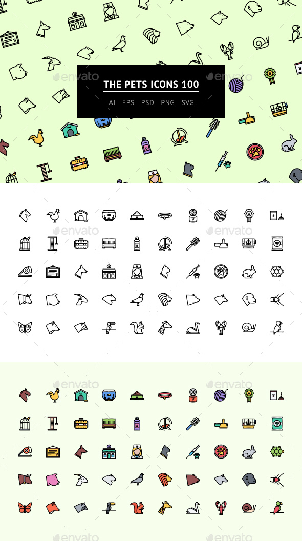 The Pets Icons 100 - Web Icons