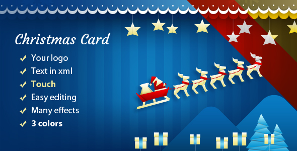 Christmas Card with Sleigh - CodeCanyon Item for Sale