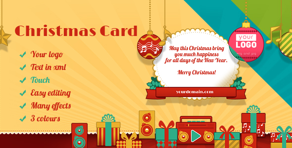 Christmas Card Retro - CodeCanyon Item for Sale