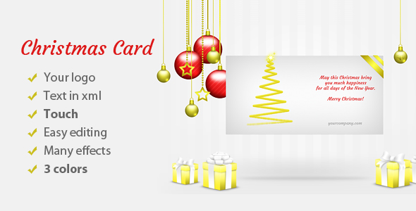 Christmas Card Elegant - CodeCanyon Item for Sale