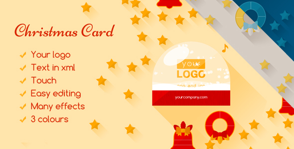 Christmas Card Flat Elegant - CodeCanyon Item for Sale
