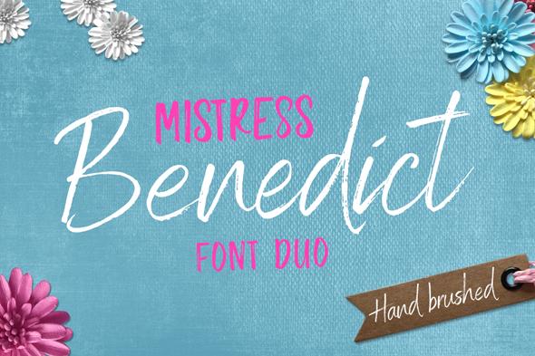 Benedict Brush Font Duo - Fonts