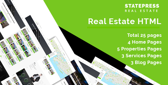 StatePress || – Real Estate HTML5 Template
