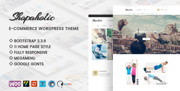Shopaholic – Responsive Multipurpose eCommerce WordPress Theme