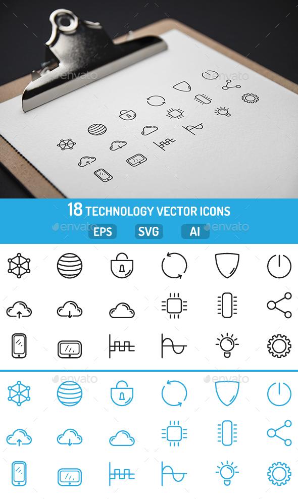 Technology Icons - Web Icons
