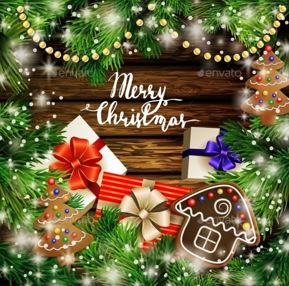 Christmas Design With Gingerbread Cookies - Christmas Seasons/Holidays