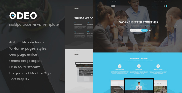 ODEO - Multipurpose & Business HTML Template - Business Corporate