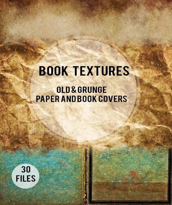 30 Old Book Textures - Paper Textures