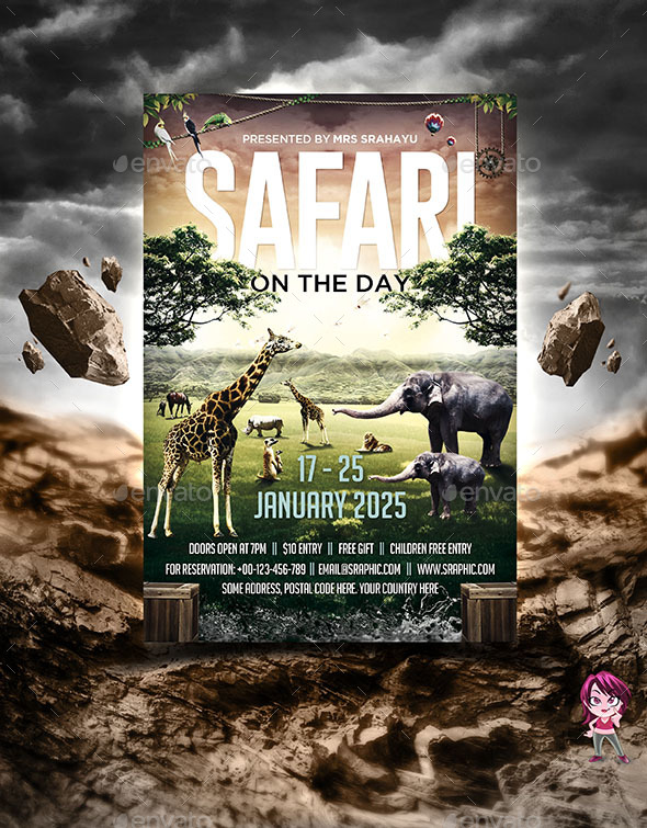 Safari on the Day Flyer Template - Holidays Events