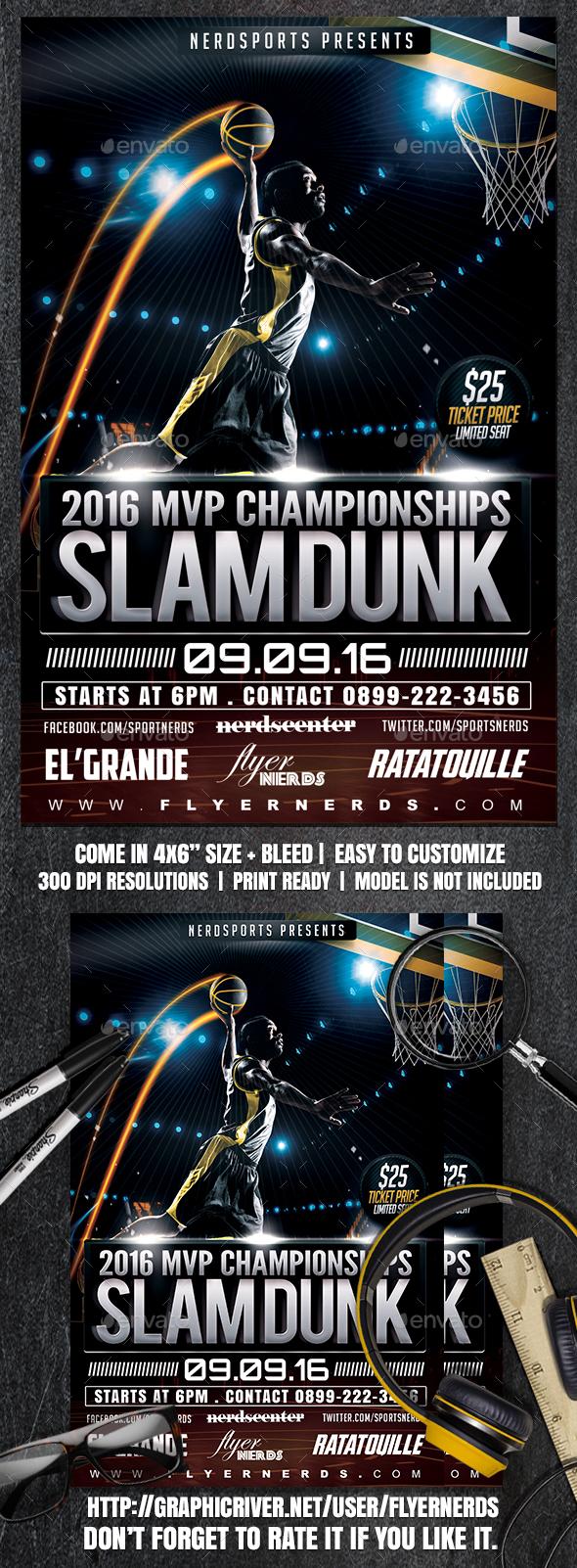 2016 MVP Championships Slamdunk Sports Flyer - Sports Events