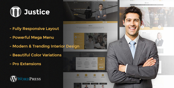 Justice - Responsive & Multipurpose WordPress Theme - Business Corporate