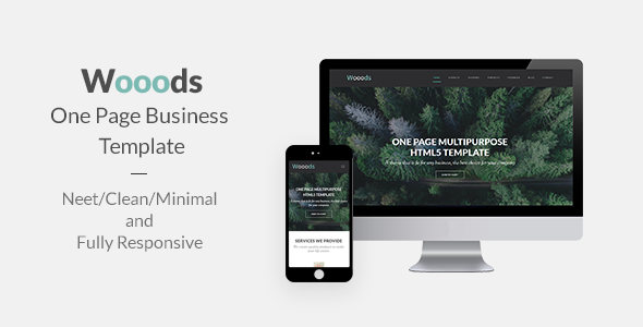 WOOODS – One Page Multipurpose HTML5 Template