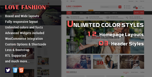 Love Fashion – Responsive Multipurpose WordPress Theme