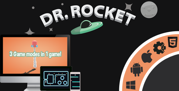 Dr.Rocket - 3 Game Modes In 1 game! - HTML5 - Capx - CodeCanyon Item for Sale