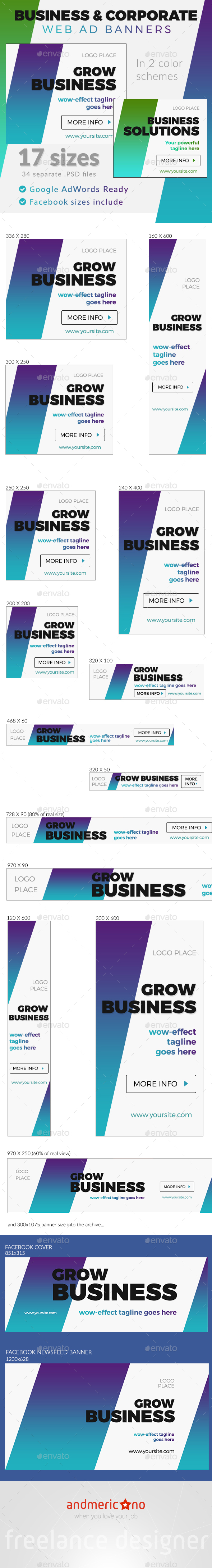Corporate & Business Ad Banners - Banners & Ads Web Elements