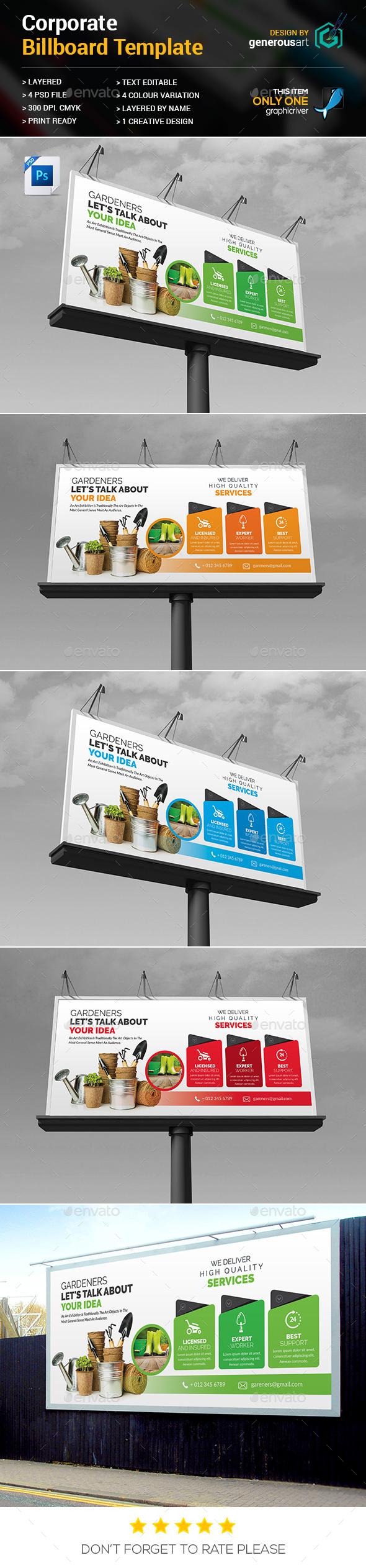 Gardeners Billboard Template - Signage Print Templates