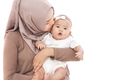 cute baby girl kissed by her mother - PhotoDune Item for Sale