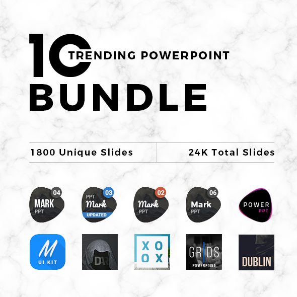10 Trending - Powerpoint Bundle - PowerPoint Templates Presentation Templates