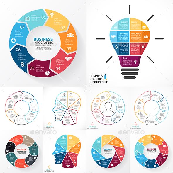 7 Steps Infographics. PSD, EPS, AI.