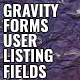 Gravity Forms User Listing Field
