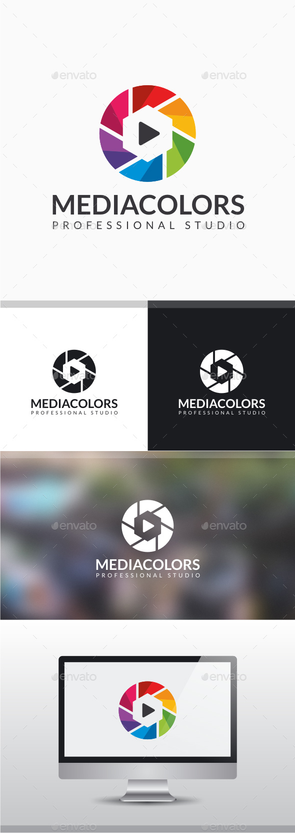 Media Colors Logo - Vector Abstract