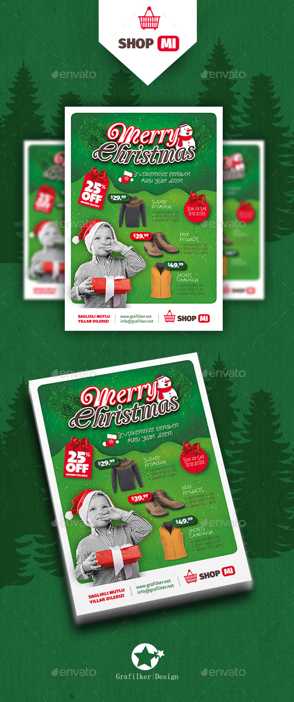 Christmas Shopping Flyer Templates - Commerce Flyers