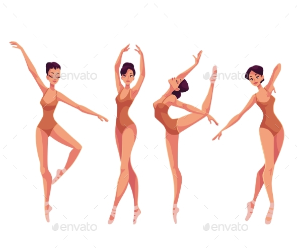Set Of Dancers In Tights - Backgrounds Decorative