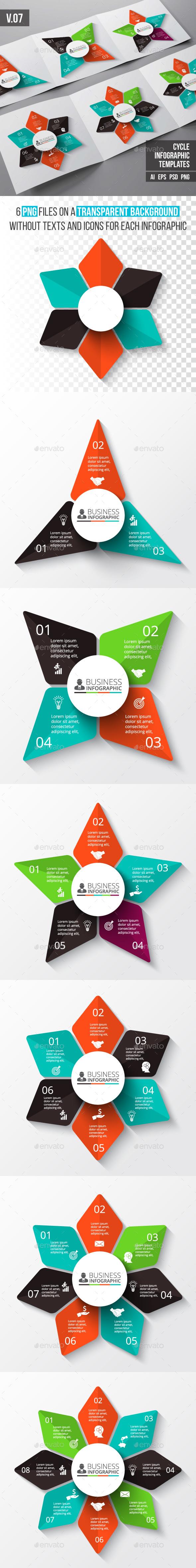 Infographics template set v.07 - Infographics