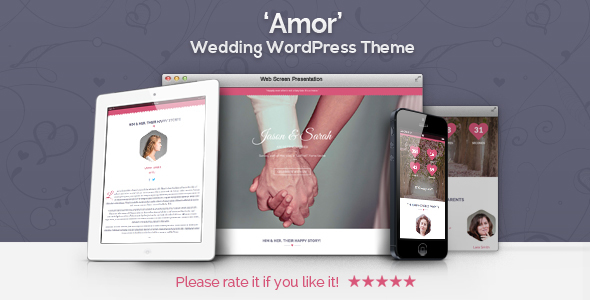 Amor – Wedding WordPress Theme